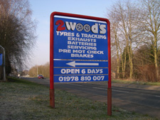 2 Woods sign