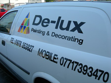 De-Lux Painting & Decorating van